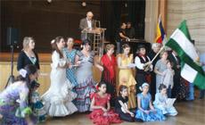 Un momento del acto festivo andaluz.