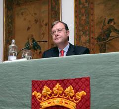 Antonio Silván durante la conferencia.