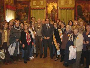 También visitaron la Diputación de Castellón junto a Mabel Manglano.