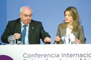Álvarez Areces y Doña Letizia.