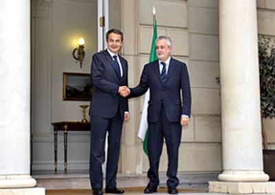 José Luis Rodríguez Zapatero y José Antonio Griñán.