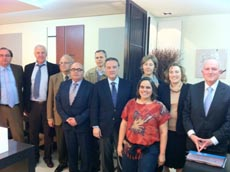 Alfredo Prada con dirigentes del PP en Lisboa.
