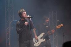 Un momento de la actuación de Dani Martín.