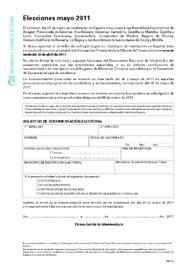 Formulario para solicitar la documentación electoral.