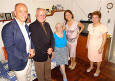 Camba y la conselleira Beatriz Mato en la Sociedad Recreo dos Ancianos de Río de Janeiro.