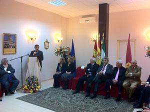 El presidente de la Diputación, Antonio Pardo, se dirige al público.