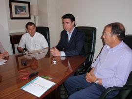 José Manuel Soria cumplió su agenda venezolana junto a Esteban Bethencourt, a su derecha, y Juan Santana, izquierda.
