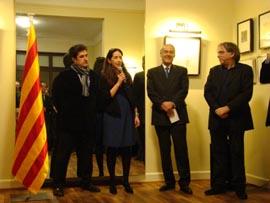 Pilar Solano dirige unas palabras a los asistentes al acto.