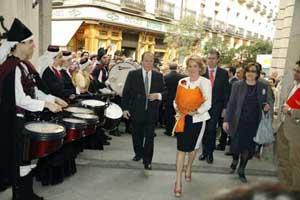 Hubo actuaciones folclóricas durante el acto.