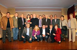 Maza con los presidentes de las entidades.