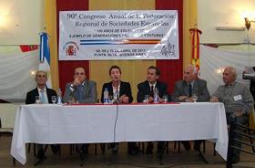 San Frutos, Olmos (2ºi), Escasas y Lozano en la inauguración.