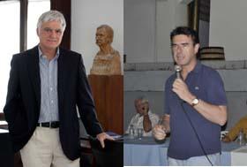 El candidato socialista, José Miguel Pérez, y el del PP, José Manuel Soria.