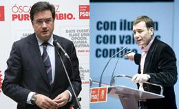 Óscar López y Tomás Gómez.