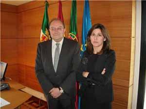 El embajador y Dolores Pallero.