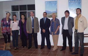 Rosita Lladó (3ªd) con los emprendedores que presentaron sus proyectos.