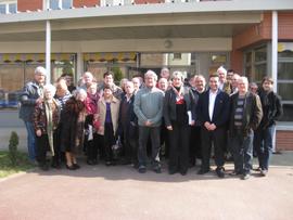 Los participantes en la asamblea general de la Casa de España.