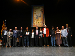 Foto de grupo con los galardonados.