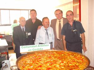 Manuel Rosas, tesorero, Luis García y Eduardo Navarro, vocal y presidente de la Asociación Española de Oliva, David Garijo y Alfredo Garijo.