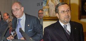 El secretario xeral de Emigración, Santiago Camba, y el subsecretario de Asuntos Exteriores, Antonio López.