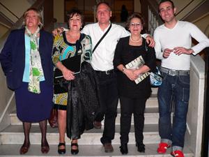 El grupo que participó en la lectura.