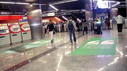 Campaña en el Intercambiador de Sol, en Madrid.