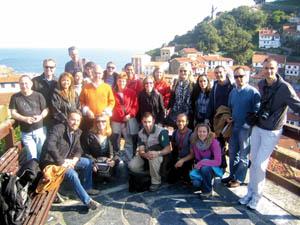 Grupo de bloggers en Cudillero.