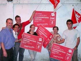 El PSOE inició la campaña electoral en el exterior.