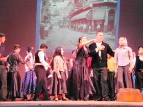 Representación de la llegada a Cuba de los emigrantes.