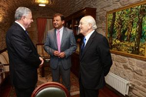 Zermeño, Guerra y Antonio Fontenla, presidente de la CEG.