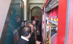 Los mallorquines conocieron las instalaciones de los bomberos locales.