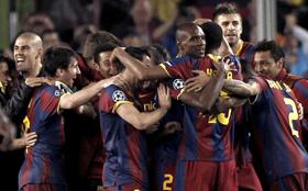 El Barcelona celebró la victoria como si hubiese ganado por adelantado la final.