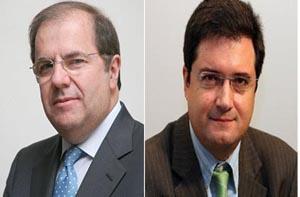 Los líderes del PP y del PSOE, Juan Vicente Herrera y Óscar López.