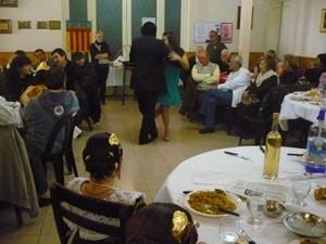 Un momento de la celebración en el Club Español de San Rafael.