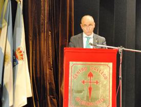 Intervención de Santiago Camba en el acto del Día das Letras Galegas en el Centro Gallego de Buenos Aires.