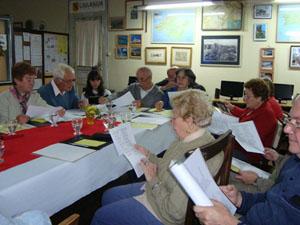 Participantes en el taller literario.