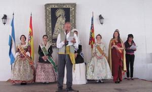 El presidente del Centro, Salvador Barberá, se dirige a los asistentes.