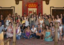 Recepción oficial a los integrantes de la pasada edición en Zamora.