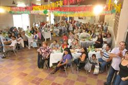 La celebración en la localidad argentina de Pérez.