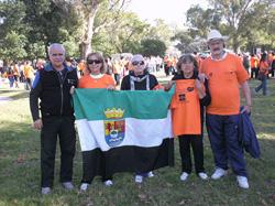 Miembros de la Casa de la Cultura Extremeña de La Plata.