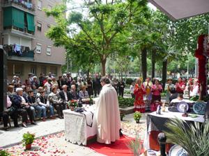 Se ofició una misa para la ocasión.