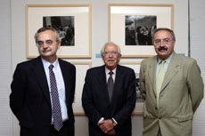Alfonso Cabaleiro, Alberto Martí y Ramón Villares.