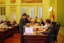 Recuento del voto CERA al Parlamento balear el pasado 25 de mayo.