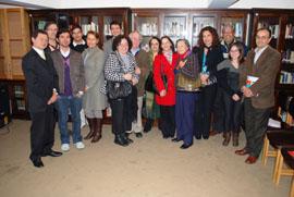 Los participantes en el acto organizado por el Lar Gallego de Chile.