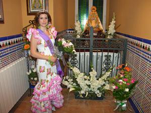 La Reina del Rocío de la entidad.