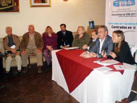 Más de la mitad de los integrantes de la lista asistieron al acto de presentación.