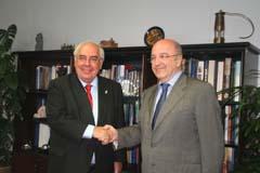 Areces se entrevistó con  Almunia en Bruselas.