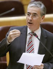Intervención del ministro de la Presidencia, Ramón Jáuregui, en el Senado.