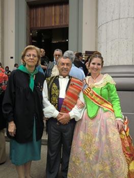 Mercedes Hernández, Felipe Sáez y Perla Pérez de Tudela.