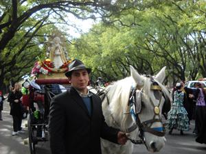 La procesión por las calles de Rosario.