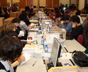 Imagen de archivo del escrutinio del voto exterior.